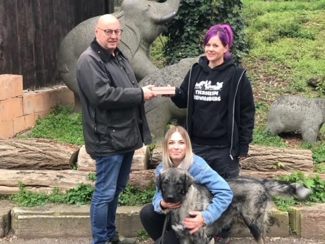 Spendenübergabe Tierheim Ludwigsburg