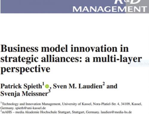 Neue Veröffentlichung von Prof. Dr. Laudien im R&D Management Journal