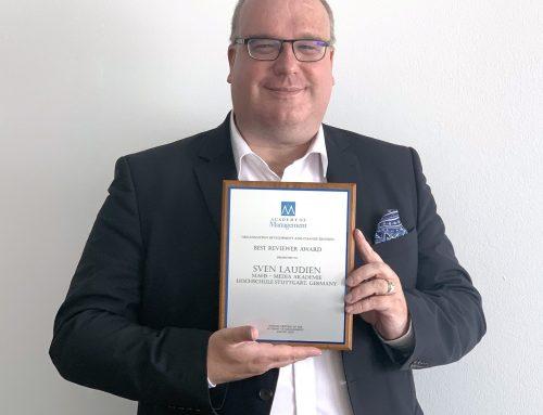 Best Reviewer Award der ODC Divison der Academy of Management für Prof. Dr. Laudien